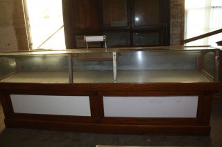 Antique Market Display Case Fish Meat or Possibly Pastry Case