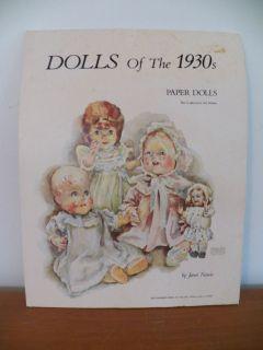 Dolls of The 1930s Paper Dolls Collectors Art Series Janet Nason