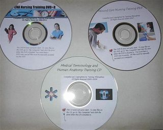 CNA 3 DVD Nursing Medical Training Wound Terms Anatomy