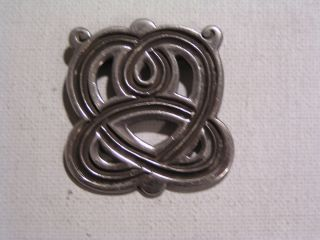 Signed 1930s Rafael Melendez Taxco 980 Silver Pin