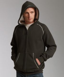 Colors Thermal Bonded Sherpa Fleece Lined Full Zip Hoodie XS L XL 2X