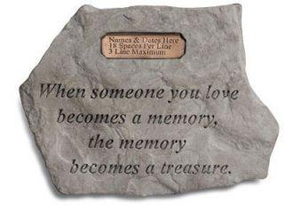 Memory Garden Memorial Stone
