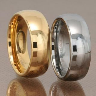 Tungsten Carbide Mens Wedding Band Ring Choose FM Gold Silver or