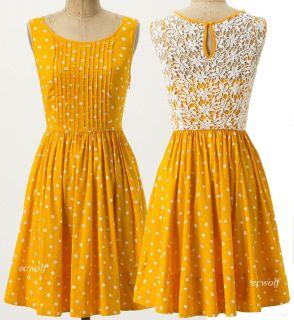NWT Moulinette Soeurs ANTHROPOLOGIE Melora Dress Medium M 8 Polka Dots