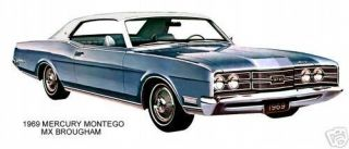 1969 Mercury Montego MX Brougham Blue White