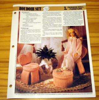 Annies Fashion Doll Plastic Canvas Club Pattern BOUDOIR SET Barbie