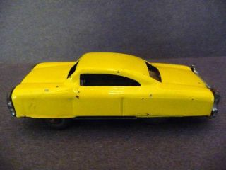 Vintage Old Bright Yellow Metal Car Friction