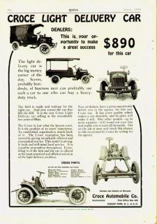 1916 Croce Light Delivery Truck Car Asbury Park NJ Ad
