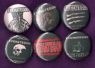 Eyehategod Pins Buttons Badges Crust Doom Metal Band