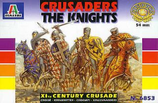 ITA6853 Crusaders The Knight Figures Mounted on Horses