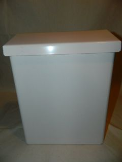 Vintage White Metal Wall Mount Mailbox with Lock Option EUC