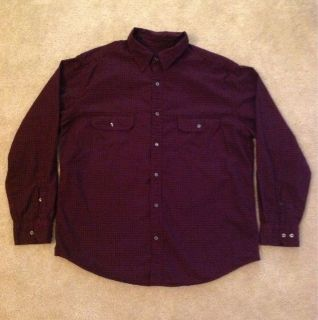 St Johns Bay Mens Casual Button Down Shirt Size Large