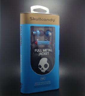 Skullcandy Full Metal Jacket in Ear Buds w Mic Blue Red