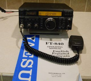 FT 840 HF Transceiver 160 10 Meters Ham Radios with Original Manual