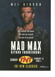 Mel Gibson Mad Max N Full Page Promo Ad
