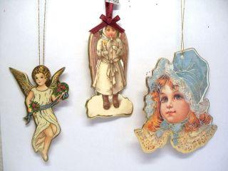 Gold Accent Victorian Angels Cherub Midwest Merrimack Ornaments