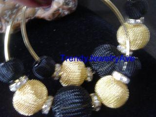 Black Gold mesh balls basketball wives inspired love hip hop hoop