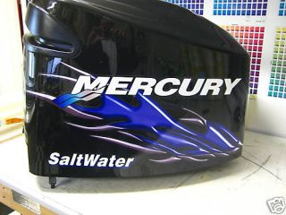 Mercury Optimax V6 150 250 HP Flame Bass Decal Kit