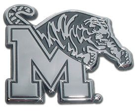 Memphis Tigers Chrome Metal Emblem Sticker Logo Medallion Display Mem