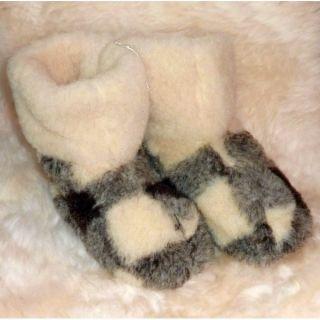 Mens 100 Pure Sheep Wool Merino Sheepskin Slipper Boots