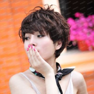 Color Available Short Messy Synthetic Hair Wig Women Hair Charming