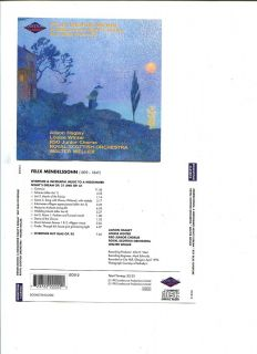 Mendelssohn A Midsummer Nights Dream Ruy Blas Overtu Audio Music CD