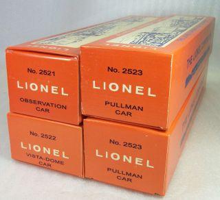 LIONEL POSTWAR REPRO PRESIDENTIAL PASSENGER CAR PICTURE BOXES 2521, 22