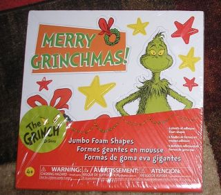 Dr Seuss The Grinch Merry Grinchmas Jumbo Christmas Foam Sheets SEALED
