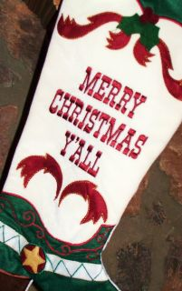 Merry Christmas Yall Southern Belle Western Cowboy Cowgirl Boot