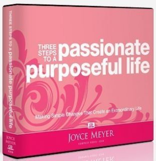 BRAND NEW Joyce Meyer CD Series THREE STEPS TO A PASSIONATE PURPOSEFUL