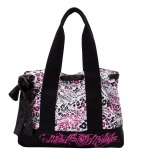 Metal Mulisha Womens Girls Booming Tote Bag Black White Pink M41771401
