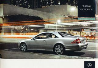 2006 Mercedes Benz CL500 CL55 AMG Sales Brochure CL600