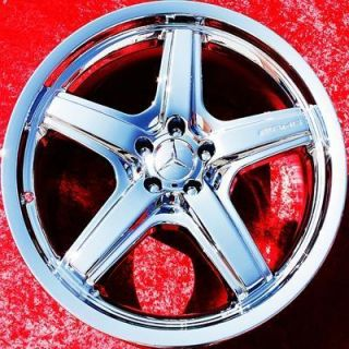 SET OF 4 NEW MERCEDES BENZ GL550 AMG 21 OEM CHROME WHEELS RIMS 85014