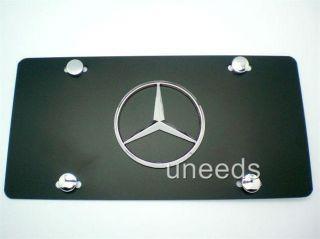 Mercedes Benz Badge Emblem Black Chrome License Plate