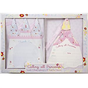 New Meri Meri Calling All Princesses Party Invitations Thank You Notes