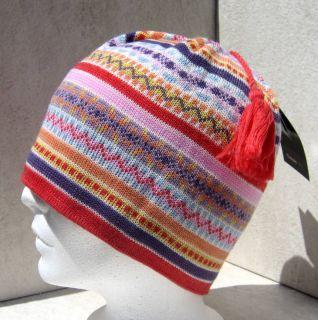 Merkley Lady Vibrant Nordic Stripe Ski Board Beanie Hat