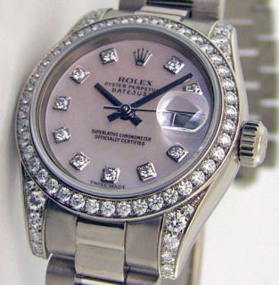 ROLEX Lady President 18k White Gold Mother of Pearl Diamond WATCH