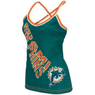 Reebok Miami Dolphins Ladies Aqua Cheer Tank Top