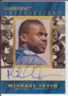 1996 Laserview Inscriptions Michael Irvin Autograph Auto Card