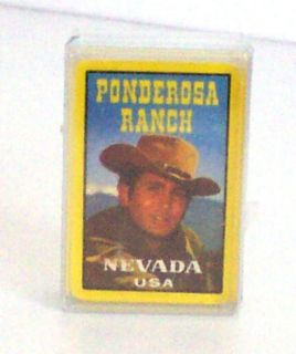 1970s MICHAEL LANDON PONDEROSA RANCH MINI PLAYING CARDS BONANZA LITTLE