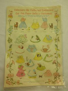 Merrimack Old Fashioned Cut Out Paper Dolls Sunbonnet Babies