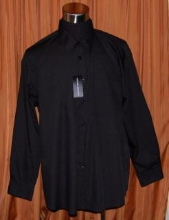 Michael Brandon Long Sleeve Black Cotton Polyester Shirt Mens 18 34 35