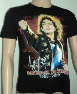 Printing Pattern Michael Jackson Size M L XL 2XL 3XL Boy Man Mens