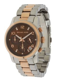 Michael Kors MK5495 Runway Rose Gold Two tone Chronograph Ladies Watch