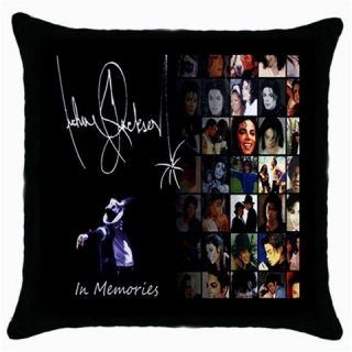 Michael Jackson in Memories with Autograph Throw Pillow Case New