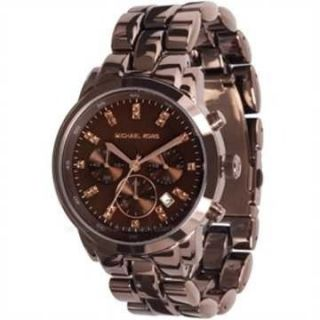 Michael Kors Watch Espresso Brown s s Showstopper Chronograph MOP Dial