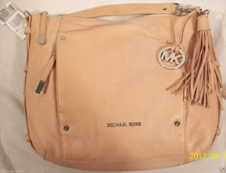 Michael Kors Bowen Python Embossed Leather Shoulder Bag Large Blush $