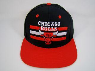Chicago Bulls Snapback Hat Black Billboard Logo Jordan NBA