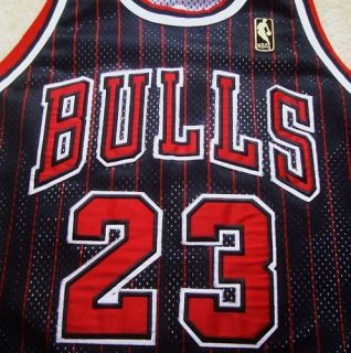 Vtg Authentic Michael Jordan Bulls NBA 50th Champion Pinstripe Jersey