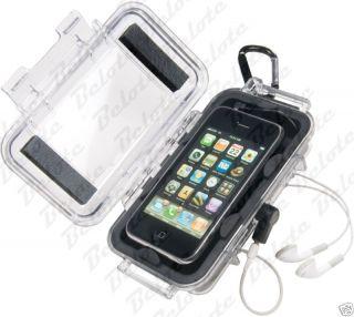 Pelican iPod iPhone Micro Case Black Clear I1015 New